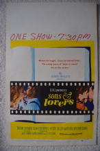 Sons and Lovers, US Window card, Trevor Howard, Mary Ure, '60